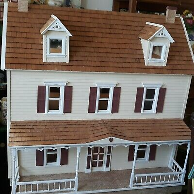 Beautiful  3 Story 9 Room Electrified Doll House Mansion With Front Porch