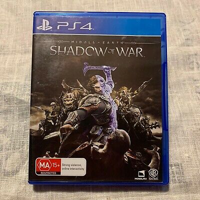 Middle Earth: Shadow Of War PS4 PlayStation 4 Game 🇦🇺 Seller Oz