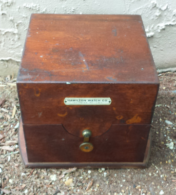 Hamilton Marine Chronometer Ship's Clock Box