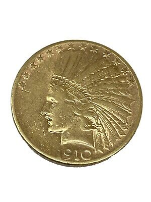 1910 S - San Francisco Mint $10 Dollar Indian Head Gold Collectible Coin