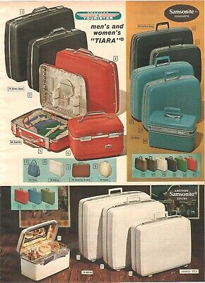 Vintage 1964 Luggage Towncraft Samsonite American Tourister Pages Prints Ads
