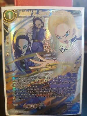 Dragon Ball Super TCG Android 18 Speedy Substitution BT8-033 SPR NM