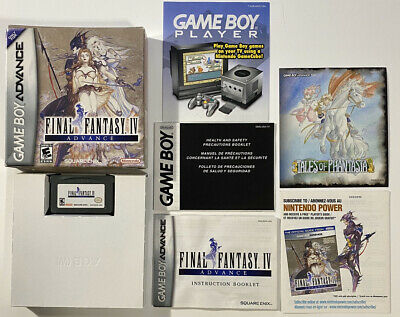 Final Fantasy IV Advance (Nintendo Game Boy Advance, 2005) GBA Complete in Box