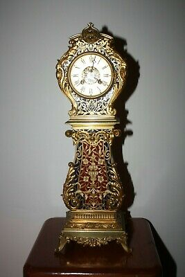 19th Century French Ormolu Gilt Bronze and Champleve enamel mantle clock.