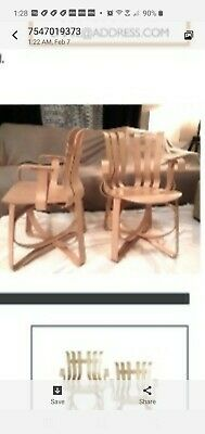 Hat Trick chairs by Frank Gehry& signed original 2 arm chairs