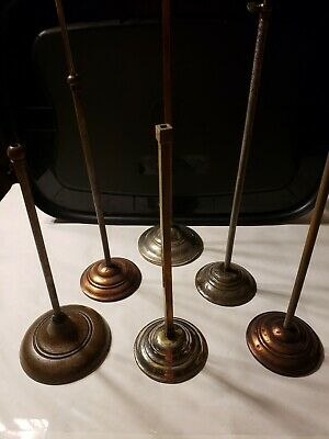 (6)Antique Metal  Hat Display Stands different sizes and bases