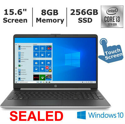 "【SEALED】HP 15.6"" HD TOUCH SCREEN Intel 10th Gen i3 8G RAM 256GB SSD WiFi+Win10"