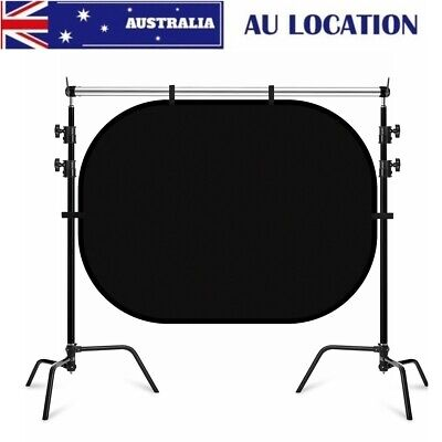 Photo Studio Black&White Screen Backdrop Heavy Duty Stand Background Support Kit