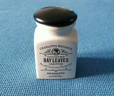 Charlotte Watson's  Country  Canister *Bay Leaves* #Excellent Unused Condition#