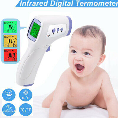 IR Infrared Digital Laser Non-Contact Forehead Baby /Adult Body Thermometer UK