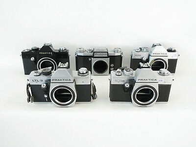 5x Analogkamera analogue camera Praktica FX 2 L LTL 3 PLC 3 Super TL tested