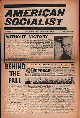 AMERICAN SOCIALIST newspaper YOUNG PEOPLES SOCIALIST LEAGUE 1964 Sanders