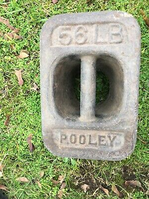 56LB Vintage Cast Iron Weight Pooley  -STAMPED -