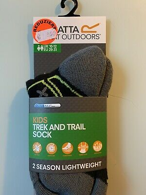 Kinder Wandersocken Gr. 29-31 Kids Trek Ans Trail Sock Schwarz 1