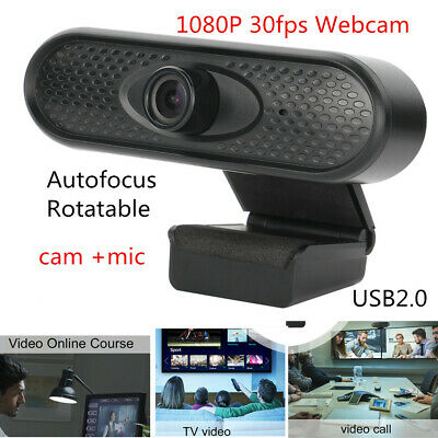 1080P Webcam USB 2.0 HD Auto Focusing Web Cam With Microphone PC Laptop Desktop