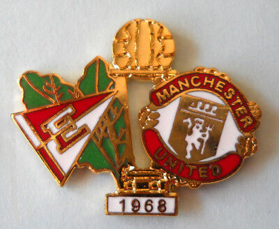 Distintivo Spilla Pin Badge Estudiantes-Manchester Coppa Intercontinentale 1968