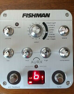 Brand New w/box Fishman Aura Spectrum DI Preamp Acoustic Pedal. TESTED.Real pics