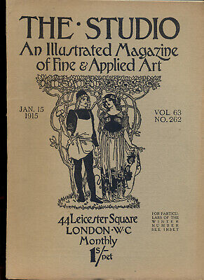 The Studio - Magazine Jan 1915Canadian Etchers , Belgian Artists Dulac TOP & RAR