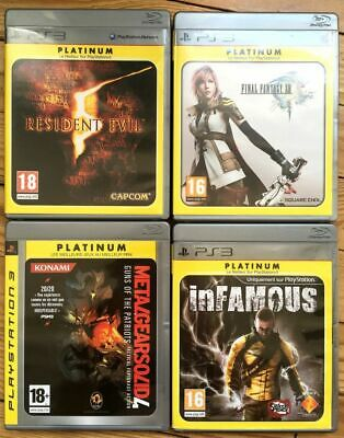 4 Jeux Complets Ps3 Platinum Resident Evil 5 Ff 13 Mgs 4 Infamous Final Fantasy
