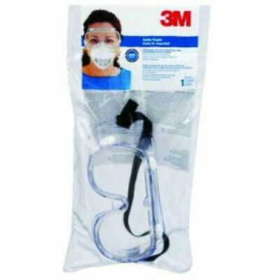 3M Safety Goggles Chemical Splash Impact Clear Lens 91252-80024 NEW