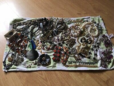 House Clearance Vintage Jewellery - Job Lot - Silver, Gold