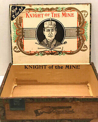 Knight Of The Mine Cigar Box Label