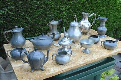 Job Lot Of Vintage Pewter Ware 5.3kg Scrap Or Collectable