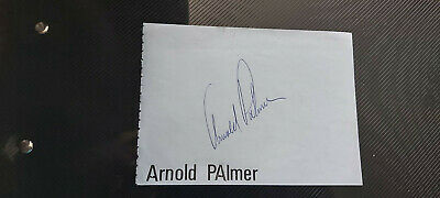 3 x Signed pages golfers Arnold Palmer Greg Norman Ben Crenshaw rare with COA