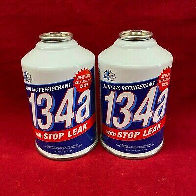 Set of 2: Avalanche Auto Air Conditioner Refill Cans and Stop Leak R134a 12oz