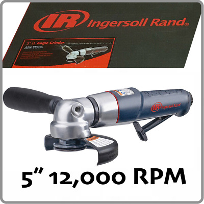 """NEW • Ingersoll Rand 345MAX Air Angle Grinder 5"""" 0.88 HP Motor 12000 RPM"""