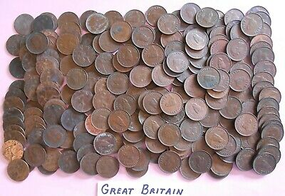 World Coin Lot:  213  British Farthings from 1911 to 1952