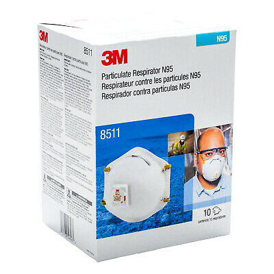 3M8511 N 95 with Cool Flow Brand New 10-pack  EXP: 2025