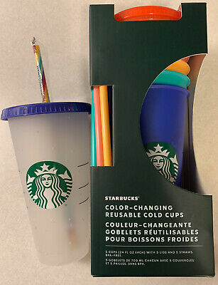 STARBUCKS COLOR CHANGING SUMMER COLD CUPS AND CONFETTI CUP 2020 🌈Rainbow🔥