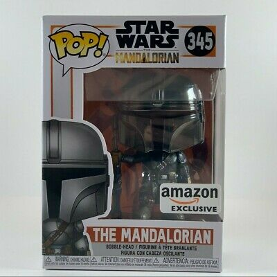 Funko Pop The Mandalorian Chrome Amazon Exclusive IN-HAND - Star Wars Pop! 345