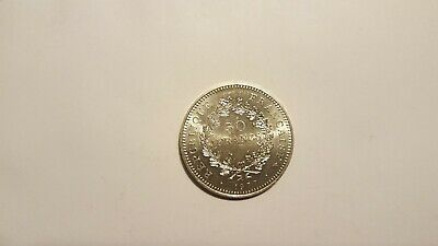 France Silver 50 Francs Coin 1977