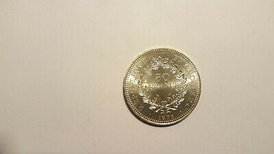 France Silver 50 Francs Coin 1978