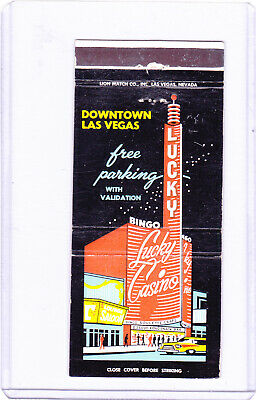 The Lucky Casino - Old Gambling Club Matchcover, Las Vegas, Nevada