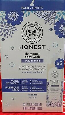 The Honest Company Truly Calming Lavender Shampoo + Body Wash 17 fl oz, 2-pack