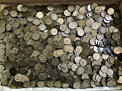 11 Lbs of 99.9% Nickle Canada Cents Bullion - EII Round & 12-Sided Coins - L31
