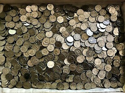 11 Lbs of 99.9% Nickle Canada Cents Bullion - EII Round & 12-Sided Coins - L33