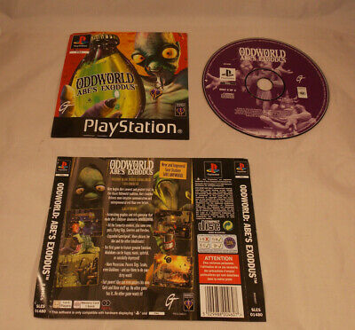 Oddworld Abe's Exoddus PS1 Disc 2 and  Front  Rear Inlays Artwork PlayStation 1