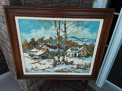 Listed Canadian artist Walter Pranke landscape oil painting