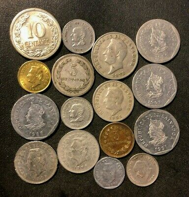 Old El Salvador Coin Lot - 1915-PRESENT - 16 Uncommon Coins - Lot #M21