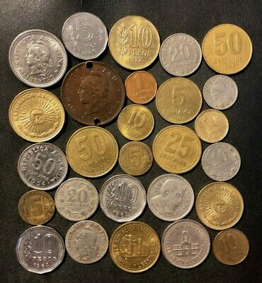 Old Argentina Coin Lot - 1906-Present - 27 Great Coins - Lot #M21