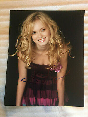 Sara Paxton headshot photo with authentic hand-signed autograph . COA