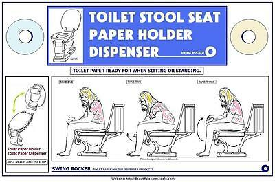 TOILET STOOL SEAT PAPER HOLDER DISPENSE >For Lavatory >Patent Licensing or Buy!