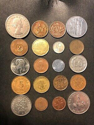 Coins of the World Lot - 20 Different Nations - FREE SHIP - Lot #M21A
