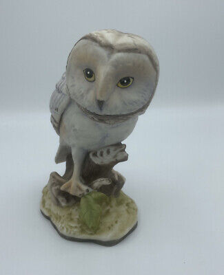 Vintage Barn Owl Brown White By Meico Inc Figure Handcrafted Finish