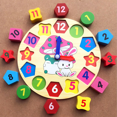 Clock Puzzle Educational Learning Sorting Number Play Toy for Toddlers Baby Kids