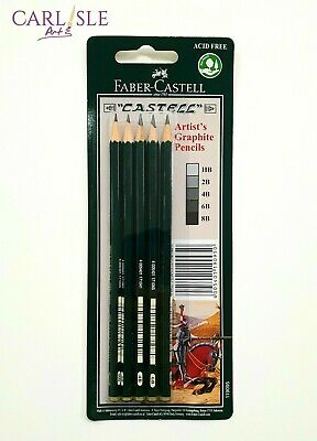 Faber-Castell 9000 Artist's Graphite Pencils Set Of 5